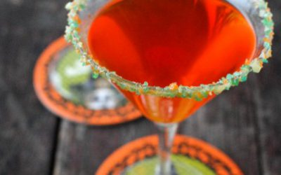 Candy Corn Martini with Pop Rocks Rim