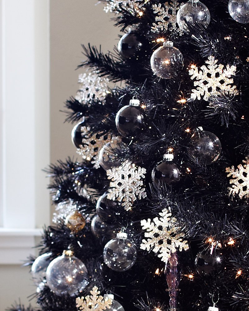 designing your tree - Black Christmas Tree With Purple Decorations